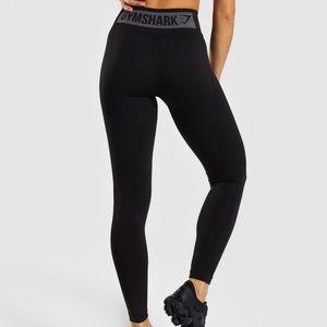 Gymshark Flex High Waisted Leggings-Black/Charcoal